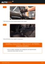 Slik bytter du vindusviskere bak på en Opel Corsa C – veiledning