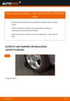 Kuinka vaihtaa iskunvaimentimet taakse Opel Zafira B A05-autoon – vaihto-ohje