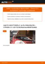 Kuinka vaihtaa moottoriöljy ja öljynsuodatin Citroen C3 1-autoon – vaihto-ohje