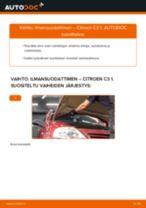 Kuinka vaihtaa ilmansuodattimen Citroen C3 1-autoon – vaihto-ohje