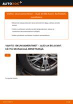 Kuinka vaihtaa iskunvaimentimet taakse Audi A4 B6 Avant-autoon – vaihto-ohje