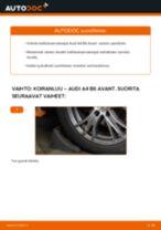 Kuinka vaihtaa koiranluu eteen Audi A4 B6 Avant-autoon – vaihto-ohje