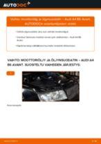 Kuinka vaihtaa moottoriöljy ja öljynsuodatin Audi A4 B6 Avant-autoon – vaihto-ohje