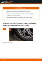 Wymiana Drążek skrętny AUDI A4: instrukcja napraw