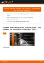 Ako vymeniť predné jednotka prużenia, tlmič prużenia na Opel Zafira B A05 – návod na výmenu