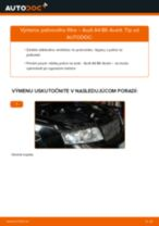 Ako vymeniť palivový filter na Audi A4 B6 Avant – návod na výmenu