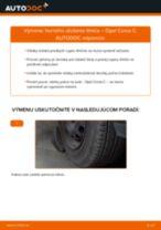 Ako vymeniť predné horné uloženie tlmiča na Opel Corsa C – návod na výmenu