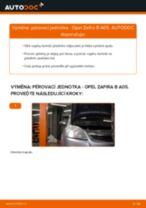 Jak vyměnit přední pérovací jednotka na Opel Zafira B A05 – návod k výměně