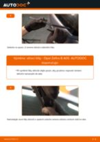 Jak vyměnit zadní stírací lišty na Opel Zafira B A05 – návod k výměně
