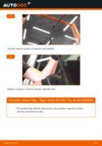 Jak vyměnit přední stírací lišty na Opel Zafira B A05 – návod k výměně