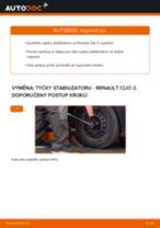 Jak vyměnit přední tyčky stabilizátora na Renault Clio 2 – návod k výměně