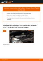 Jak vyměnit motorový olej a olejový filtr na Renault Clio 2 – návod k výměně