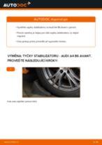 Online průvodce zdarma jak obnovit Kosti stabilizátoru AUDI A4 Avant (8E5, B6)