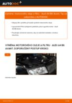 Online návod jak vyměnit Olejovy filtr na AUDI A4 Avant (8E5, B6)