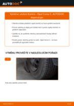 Jak vyměnit přední a zadní Uložení tlumičů OPEL CORSA C (F08, F68) - manuály online