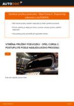 Doporučení od automechaniků k výměně OPEL Opel Corsa S93 1.2 i 16V (F08, F68, M68) Odpruzeni