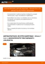 Αλλαγή Εξωτερικός καθρέπτης RENAULT CLIO: εγχειριδιο χρησης
