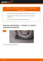 Kako zamenjati avtodel amortizer zadaj na avtu Citroen C3 1 – vodnik menjave