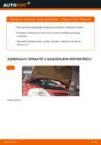 Kako zamenjati avtodel vzmetna noga (blazilnik) spredaj na avtu Citroen C3 1 – vodnik menjave