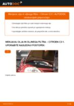 Kako zamenjati avtodel motorna olja in filter na avtu Citroen C3 1 – vodnik menjave