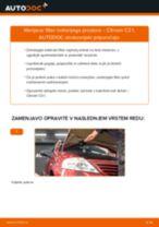 Kako zamenjati avtodel filter notranjega prostora na avtu Citroen C3 1 – vodnik menjave