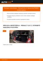 Kako zamenjati avtodel amortizer zadaj na avtu Renault Clio 2 – vodnik menjave