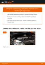 Kako zamenjati avtodel vzmetna noga (blazilnik) spredaj na avtu Renault Clio 2 – vodnik menjave