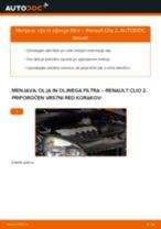 Kako zamenjati avtodel motorna olja in filter na avtu Renault Clio 2 – vodnik menjave