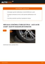 Kako zamenjati avtodel končnik stabilizatorja spredaj na avtu Audi A4 B6 Avant – vodnik menjave