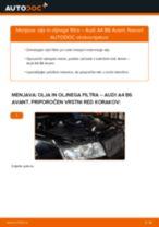 Kako zamenjati avtodel motorna olja in filter na avtu Audi A4 B6 Avant – vodnik menjave