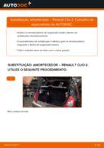 Como mudar amortecedores da parte traseira em Renault Clio 2 - guia de substituição