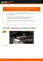 Como mudar kit de suspensão da parte dianteira em Renault Clio 2 - guia de substituição