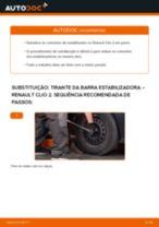 Como mudar tirante da barra estabilizadora da parte dianteira em Renault Clio 2 - guia de substituição
