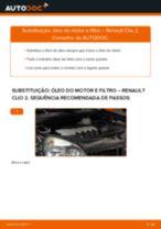Como mudar óleo do motor e filtro em Renault Clio 2 - guia de substituição