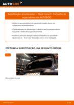 Instalação Amortecedores OPEL CORSA C (F08, F68) - tutorial passo-a-passo