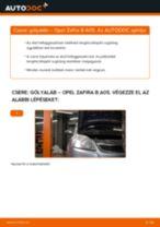 Cseréljünk Lengéscsillapító OPEL ZAFIRA: felhasználói kézikönyv
