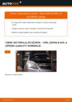 Motorolaj és szűrők-csere Opel Zafira B A05 gépkocsin – Útmutató