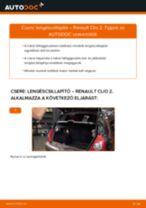 Hátsó lengéscsillapító-csere Renault Clio 2 gépkocsin – Útmutató
