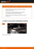 Elülső gólyaláb-csere Renault Clio 2 gépkocsin – Útmutató