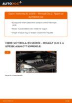 Motorolaj és szűrők-csere Renault Clio 2 gépkocsin – Útmutató