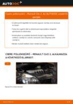 Pollenszűrő-csere Renault Clio 2 gépkocsin – Útmutató