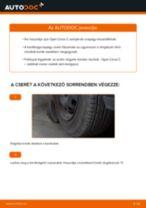 Elülső kerékcsapágy-csere Opel Corsa C gépkocsin – Útmutató
