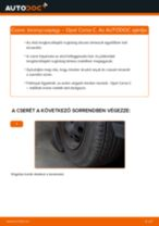 Elülső toronycsapágy-csere Opel Corsa C gépkocsin – Útmutató