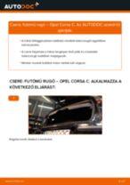 Hátsó futómű rugó-csere Opel Corsa C gépkocsin – Útmutató