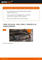 Elülső gólyaláb-csere Opel Corsa C gépkocsin – Útmutató