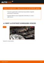 Levegőszűrő-csere Opel Corsa C gépkocsin – Útmutató