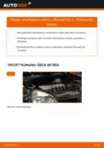 Kā mainīties Kronšteins, Stabilizatora bukse RENAULT CLIO II (BB0/1/2_, CB0/1/2_): pdf rokasgrāmata