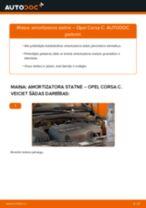 Piekare, Riteņu gultņa korpuss nomaiņa OPEL CORSA: tiešsaistes pamācības