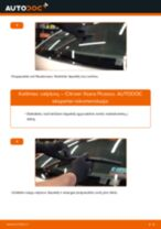 Kaip pakeisti Citroen Xsara Picasso valytuvų: galas - keitimo instrukcija