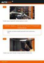 Kaip pakeisti Citroen Xsara Picasso valytuvų: priekis - keitimo instrukcija